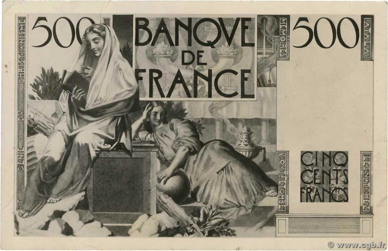 500 Francs CHATEAUBRIAND Photo FRANCIA  1945 F.34.00p BB
