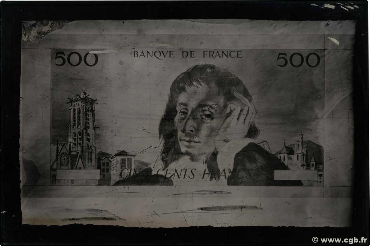 500 Francs PASCAL Photo FRANCE  1968 F.71.00p VF