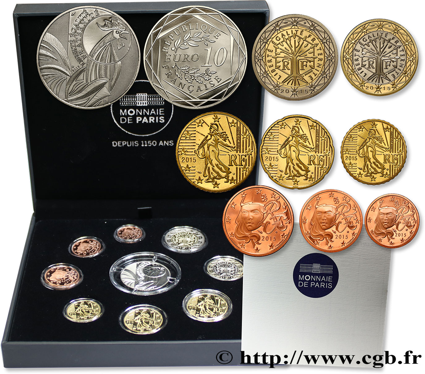 FRANCE COFFRET Euro BELLE ÉPREUVE 2015 Proof set