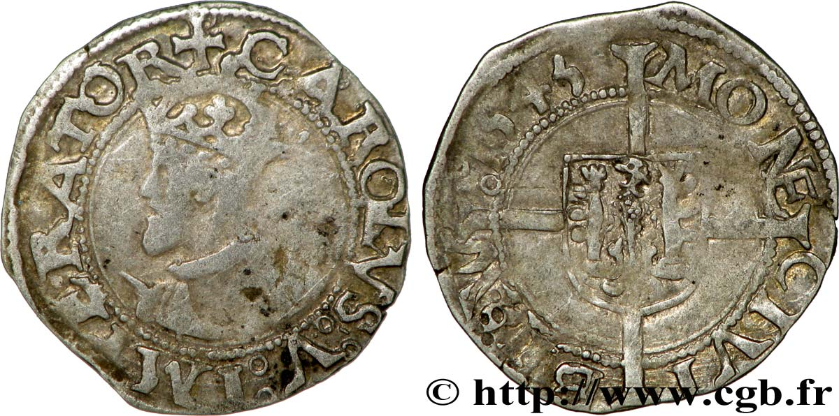 TOWN OF BESANCON - COINAGE STRUCK AT THE NAME OF CHARLES V Blanc q.BB