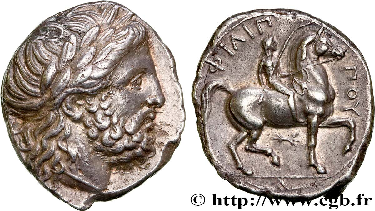 MACEDONIA - MACEDONIAN KINGDOM - PHILIP II Tétradrachme AU