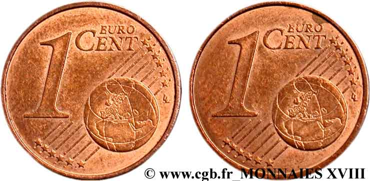 EUROPEAN CENTRAL BANK 1 centime d'euro, double face commune n.d. AU