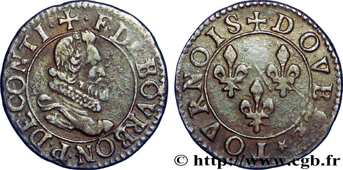 PRINCIPAUTY OF CHATEAU-REGNAULT - FRANCOIS OF BOURBON-CONTI Double tournois, type 6 BB