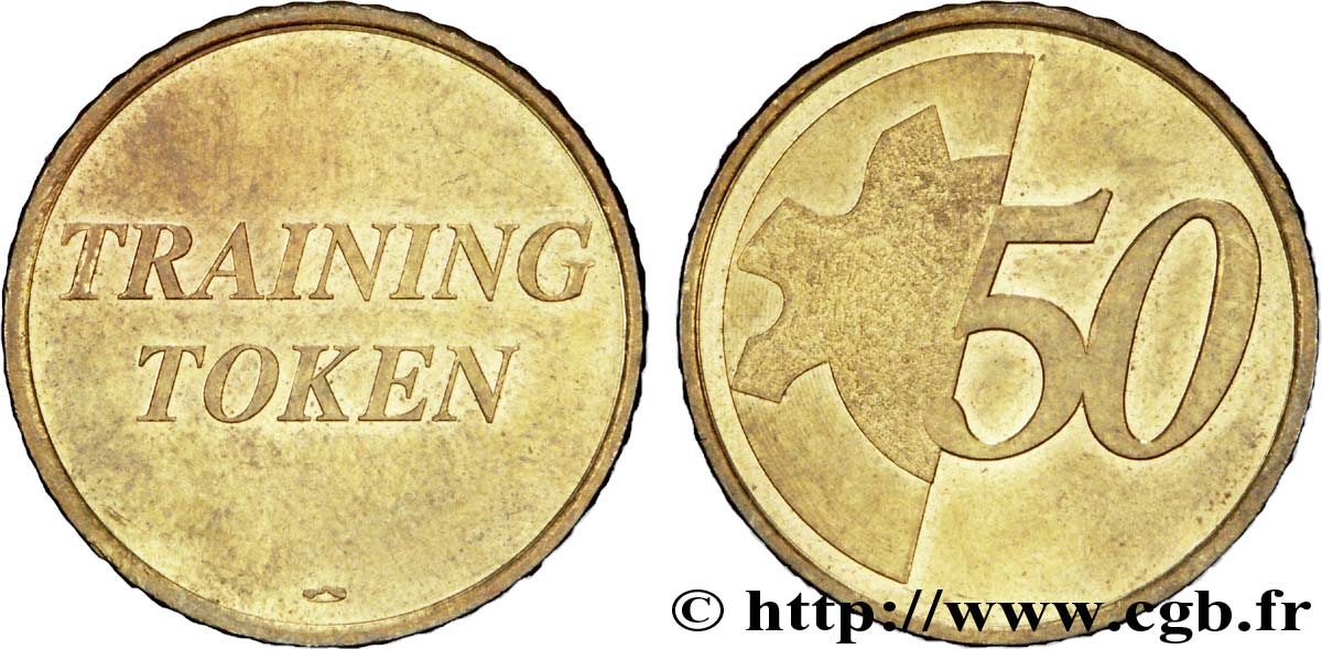 EUROPEAN CENTRAL BANK 50 centimes d'euro, Training Token n.d. MS