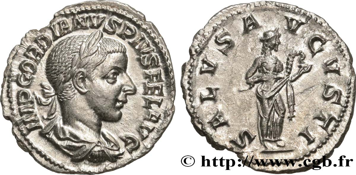 GORDIAN III Denier MS