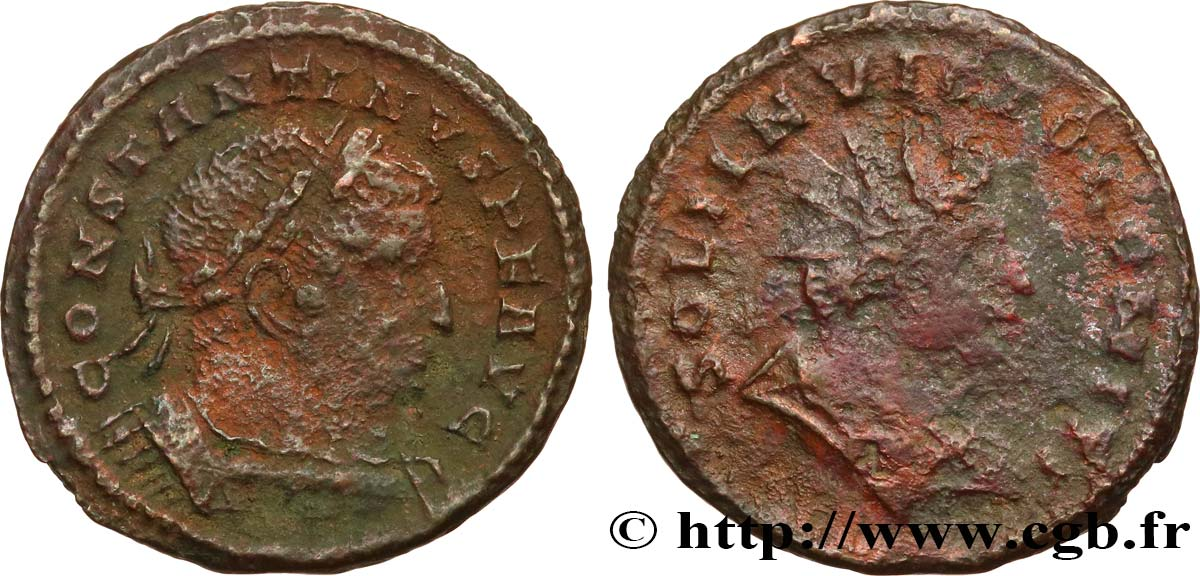 CONSTANTINE I THE GREAT Follis ou nummus VF/F