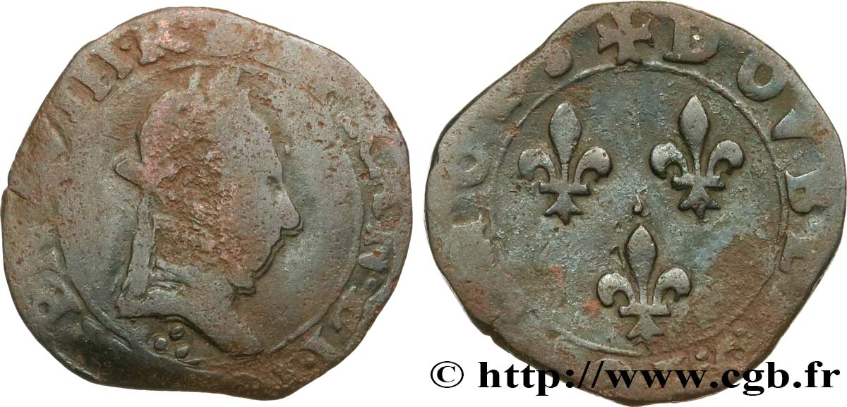 HENRY III Double tournois, type de Bourges n.d. Bourges VF