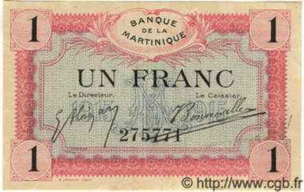 1 Franc MARTINIQUE  1915 P.10 SPL+