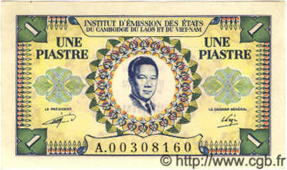 1 Piastre / 1 Dong INDOCHINE FRANÇAISE  1952 P.104 NEUF