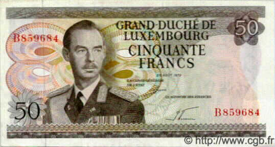 50 Francs LUXEMBOURG  1972 P.56a NEUF