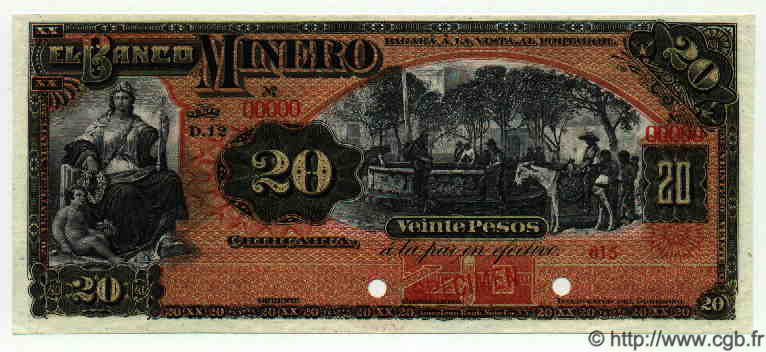 20 Pesos MEXIQUE  1915 PS.0165As2 NEUF