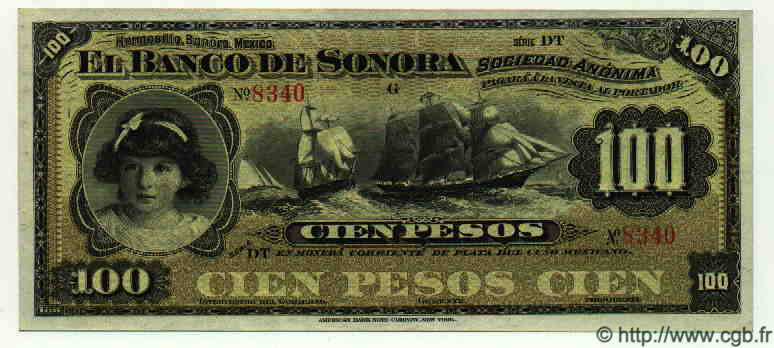 100 Pesos MEXIQUE  1915 PS.0423d SPL