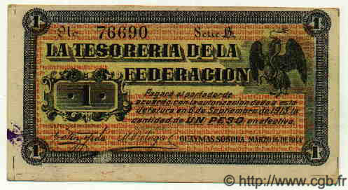 1 Peso MEXIQUE  1914 PS.1060 TTB+