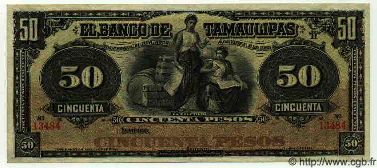 50 Pesos MEXIQUE  1915 PS.0432e SPL