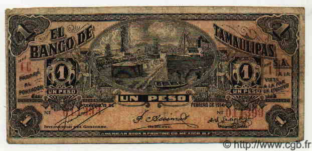 1 Peso MEXIQUE  1914 PS.0436 TB+