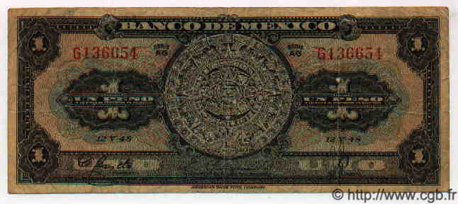 1 Peso MEXIQUE  1948 P.710d TB