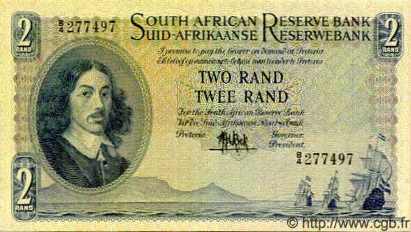 2 rand afrique du sud 1961 p 104a sup b11 0704 billets