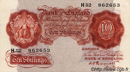10 Shillings ANGLETERRE  1934 P.362c SUP