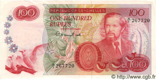 100 Rupees SEYCHELLES  1977 P.22 SUP