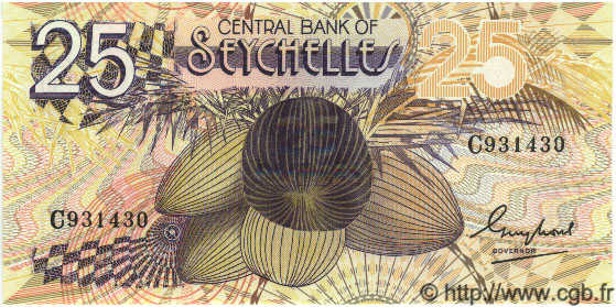 25 Rupees SEYCHELLES  1983 P.29a NEUF