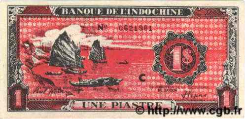 1 Piastre rouge INDOCHINE FRANÇAISE  1948 P.060 (type)