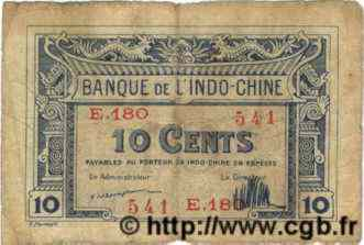 10 Cents  INDOCHINE FRANÇAISE  1922 P.044 pr.TB