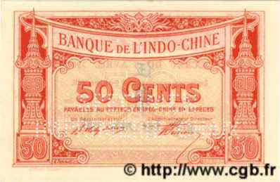 50 Cents INDOCHINE FRANÇAISE  1920 P.047bs