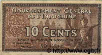 10 Cents INDOCHINE FRANÇAISE  1939 P.085e TTB