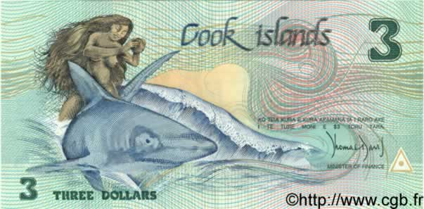3 Dollars ÎLES COOK  1987 P.03a NEUF