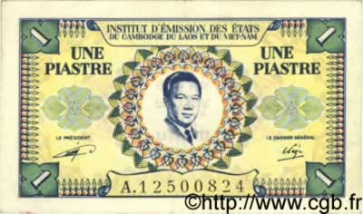 1 Piastre - 1 Dong  INDOCHINE FRANÇAISE  1952 P.104 SUP