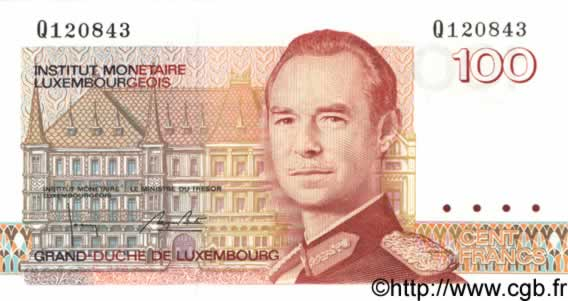 100 Francs LUXEMBOURG  1986 P.58b pr.NEUF