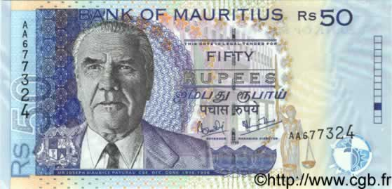 50 Rupees  ÎLE MAURICE  1998 P.43v NEUF
