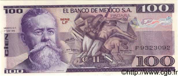 100 Pesos MEXIQUE  1979 P.068b