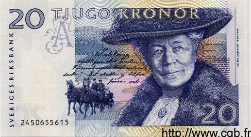 20 Kronor SUÈDE  1992 P.61a NEUF