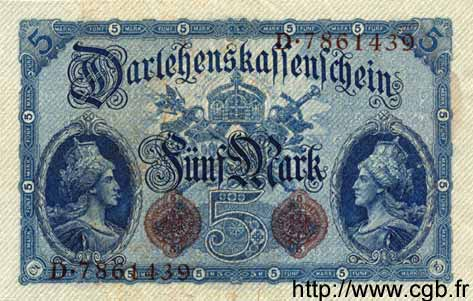 5 Mark ALLEMAGNE  1914 P.047b SUP+