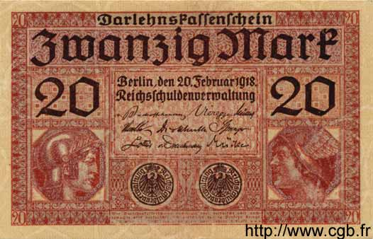20 Mark ALLEMAGNE  1918 P.057 SUP
