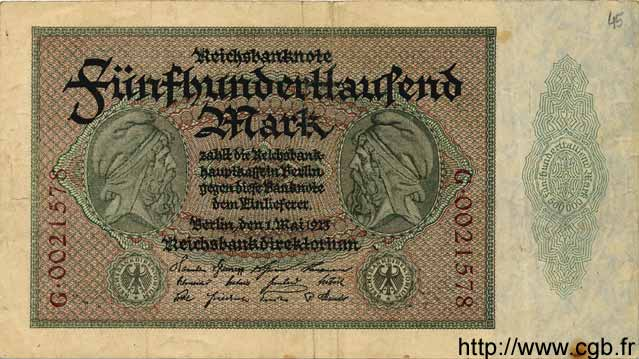 500000 Mark ALLEMAGNE  1923 P.088a TB+