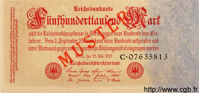 500000 Mark ALLEMAGNE  1923 P.092s NEUF