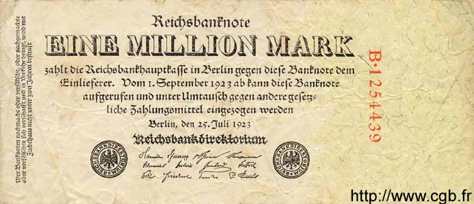 1 Million Mark ALLEMAGNE  1923 P.094 TB
