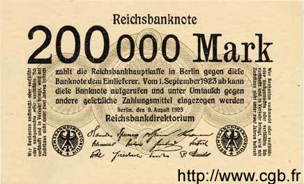 200000 Mark ALLEMAGNE  1923 P.100 NEUF