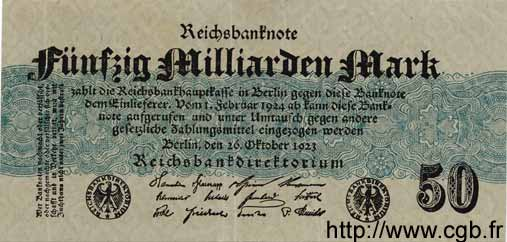 50 Milliarden Mark ALLEMAGNE  1923 P.125a SUP