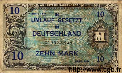10 Mark ALLEMAGNE  1944 P.194a B+