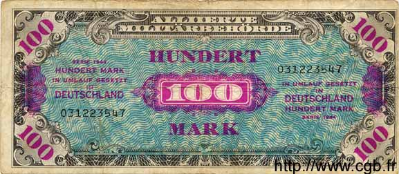 100 Mark ALLEMAGNE  1944 P.197a TB