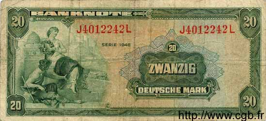 20 Mark ALLEMAGNE  1948 P.006a TB