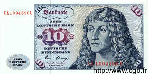 10 Mark ALLEMAGNE  1980 P.031d NEUF