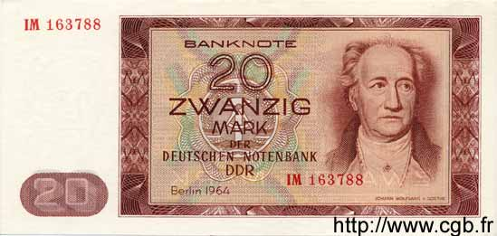 20 Mark ALLEMAGNE  1964 P.024 NEUF