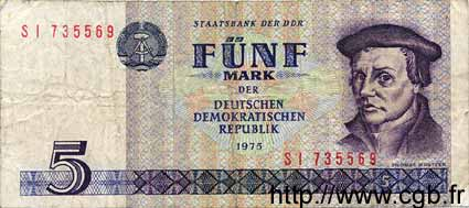 5 Mark ALLEMAGNE  1975 P.027b TB