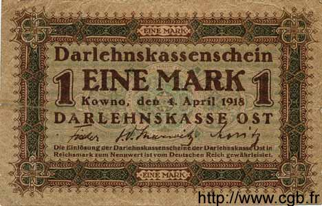1 Mark ALLEMAGNE  1918 P.R128 TB+