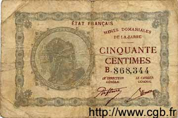 50 Centimes ALLEMAGNE  1930 R.865 B+