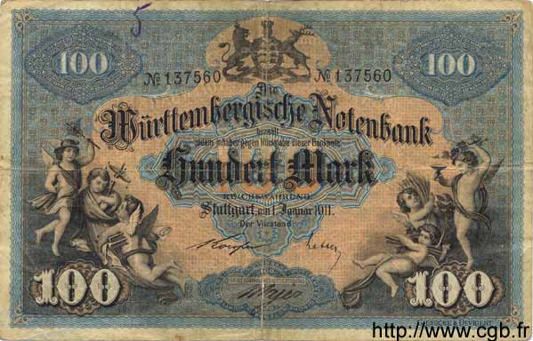 100 Mark ALLEMAGNE  1911 PS.0979b TB